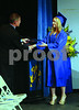 Samantha Craig receives her Diploma from Superintendent Jeremy Clingerman. At the 2014 Commencement at Marcus Whitman High School. June 27,2014